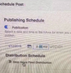 How to Schedule Posts on a Facebook Page