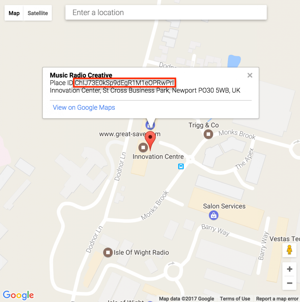 write a review on google places