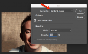 Content Aware Fill in Photoshop