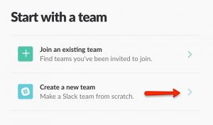 Creating a Slack Team